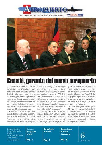 Canadá, garante del nuevo aeropuerto - CORPAQ