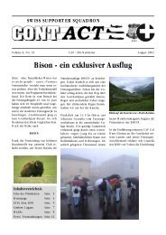 Bison - ein exklusiver Ausflug - Swiss Wing