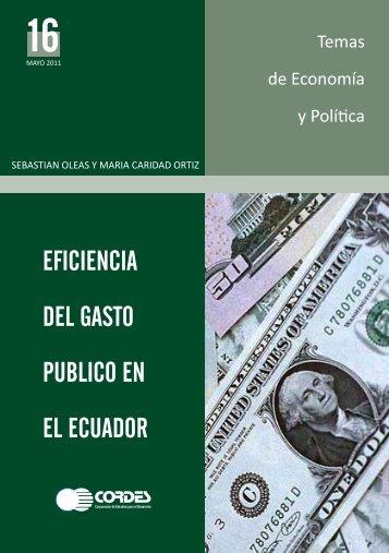 Eficiencia del Gasto Público en el Ecuador - CORDES