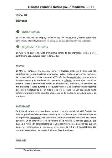 Biología celular e Histología. 1º Medicina - Doctortazo