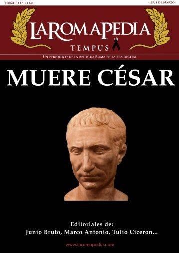 Junio Bruto, Marco Antonio, Tulio Ciceron... - La RomaPedia