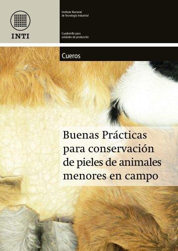 Buenas Prácticas para conservación de pieles de animales ... - INTI
