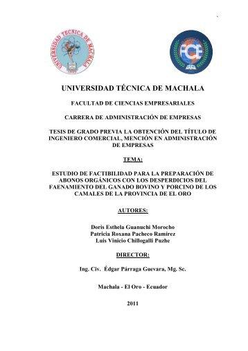 capítulo i el problema - Universidad Técnica de Machala