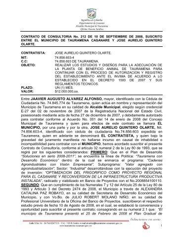 CONTRATO DE CONSULTORIA No - Portal Único de Contratación