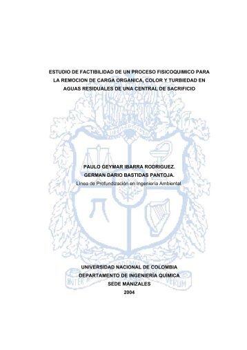 estudio de factibilidad de un proceso fisicoquimico para la remocion ...