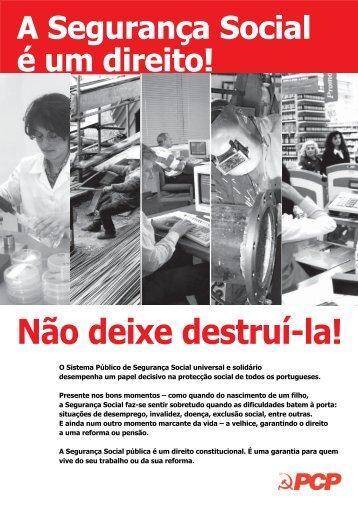 Folheto do PCP - Partido Comunista Português