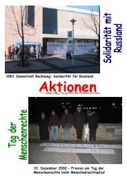 Galerie Aktionen - amnesty international Deutschland - Gruppe ...
