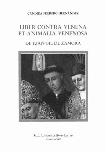 liber contra venena et animalia venenosa - Reial Acadèmia de ...