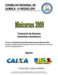 Tratamento de efluentes industriais e domésticos - Conselho ...