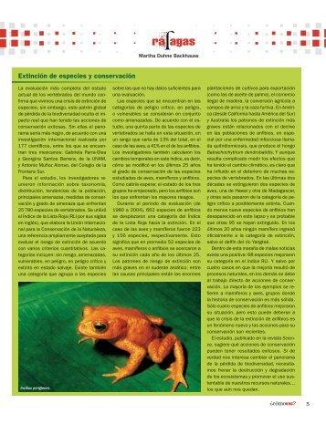 Extinción de especies y conservación - Cómo ves? - UNAM