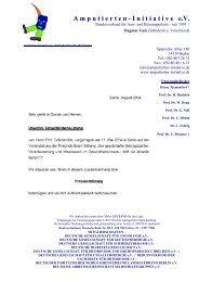 Amputierten - Initiative eV / Gefäßkranke