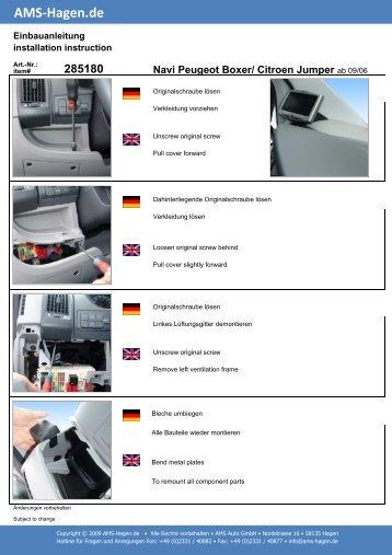 Navi Peugeot Boxer/ Citroen Jumper - AMS Hagen