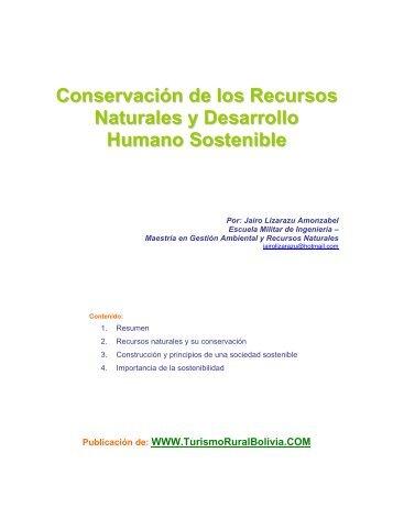 Conservación de los Recursos Naturales y Desarrollo Humano ...