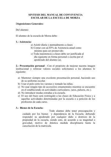 SINTESIS DEL MANUAL DE CONVIVENCIA