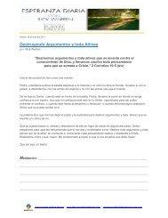 Destruyendo Argumentos y toda Altivez - Saddleback Resources