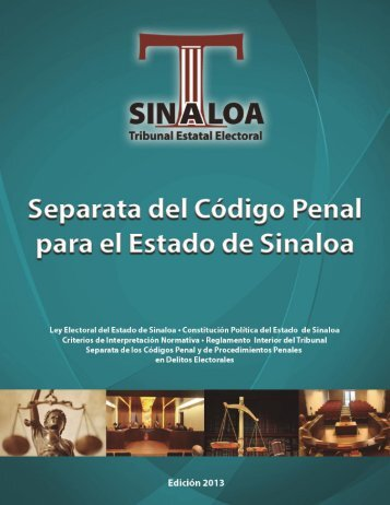 Codigo Penal - Tribunal Estatal Electoral de Sinaloa