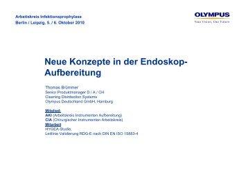 Neue Konzepte in der Endoskop- Aufbereitung