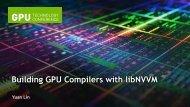 Building GPU Compilers with libNVVM