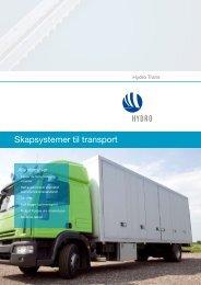 Skapsystemer til transport
