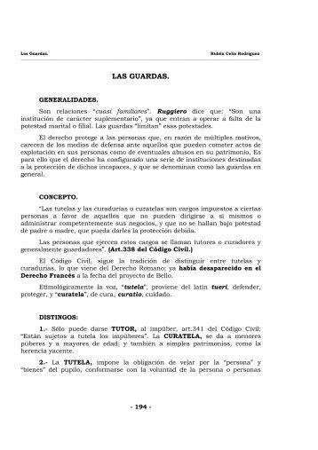 DERECHO FAMILIA IV - Las guardas - Lex Web
