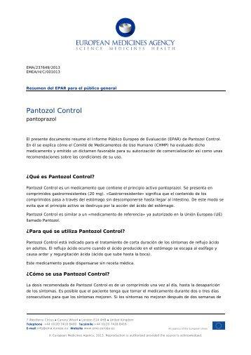 PANTOZOL Control, INN-pantoprazole - European Medicines ...