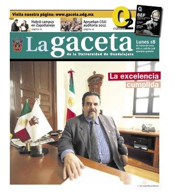 La excelencia cumplida - La gaceta - Universidad de Guadalajara