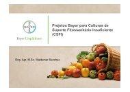 Projetos Bayer para Culturas de Suporte Fitossanitário Insuficiente ...