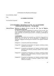 Ley No. 828 Ley de Reforma a la Ley Régimen Presupuestario ...