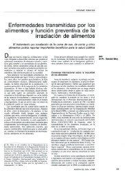 Enfermedades transmitidas por los alimentos y función ... - IAEA
