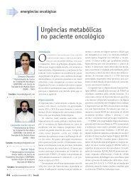 Urgências metabólicas no paciente oncológico - Revista Onco
