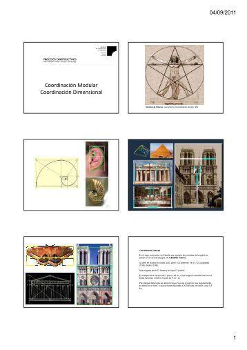 Coordinación Modular Coordinación Dimensional - Procesos ...