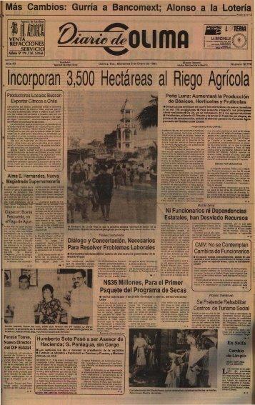 Incorporan 3,500 Hectáreas al Riego Agrícol a - Universidad de ...