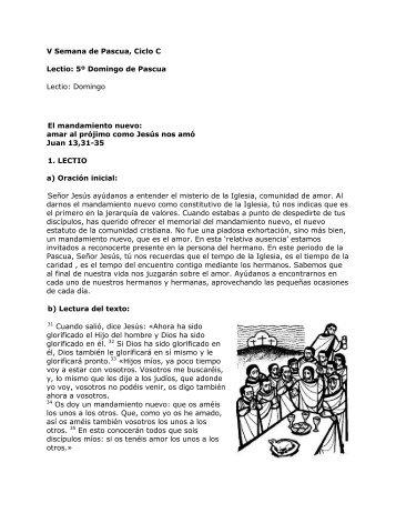 V Domingo de Pascua, Ciclo C. San Juan 13,31-33ª ... - Homiletica.org