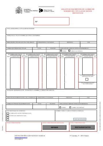 Modelo castellano - Oficina patentes y marcas ...