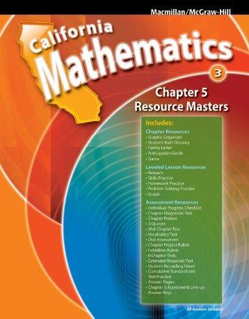 Chapter 5 Resource Masters - Macmillan/McGraw-Hill
