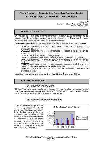 FICHA SECTOR – ACEITUNAS Y ALCAPARRAS - Icex