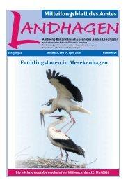 gestalten • schalten • archivieren Ihre Vorteile bei ... - Amt Landhagen