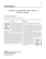 Cuidados y generalidades sobre catéteres venosos centrales - imss