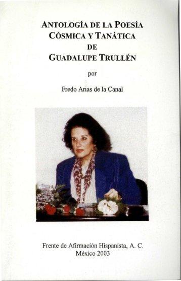 antología de la poesía cósmica y tanática de guadalupe trullén
