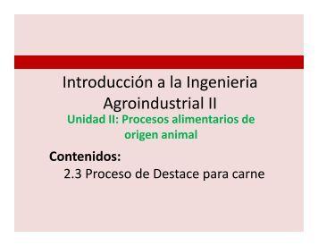 Proceso de Beneficio Para Carne Introducción a la ... - Inicio