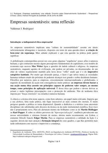 Empresas sustentáveis: uma reflexão - IPQ