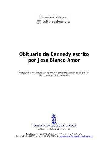 Obituario de Kennedy escrito por José Blanco Amor