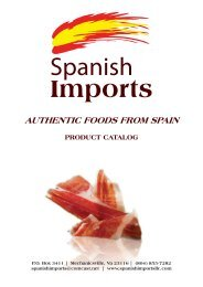 AUTHENTIC FOODS FROM SPAIN - Spanish Imports llc