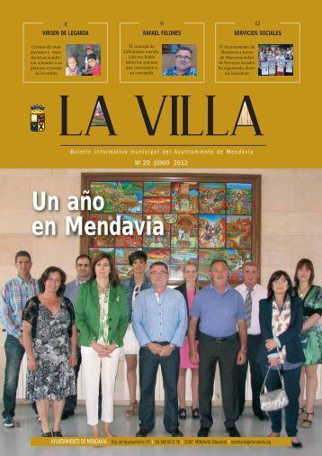 """""""La Villa"""": Boletín informativo del Ayuntamiento de Mendavia"""