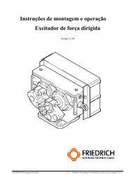 Instruções de montagem e operação Excitador de força dirigida