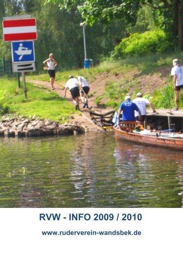 RVW Vereinsheft 2009/2010 - Ruderverein Wandsbek e.V.