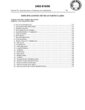 ESPECIFICACIONES TÉCNICAS PARTICULARES - Ministerio de ...