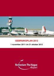 GEBRUIKSPLAN 2012 - Rotterdam Airport