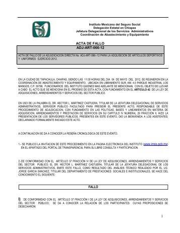 fallo - Portal de compras del IMSS ®Inicio - IMSS