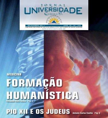 EDIÇÃO 142 SETEMBRO de 2011 - Instituto Ciência e Fé